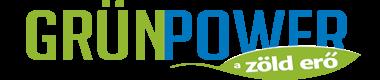 Grünpower logo,medencefűtés, papírbrikettáló